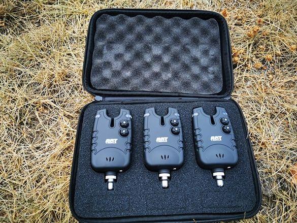 Комплект сигнализатори Bat Tackle Set 3 бр в калъф