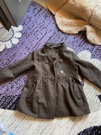 Тъмно кафяво палто на Obaibi размер 98