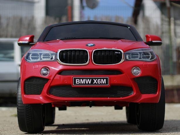 Masinuta electrica pentru copii BMW X6M NOUA, 12V, 2x35W #Rosu