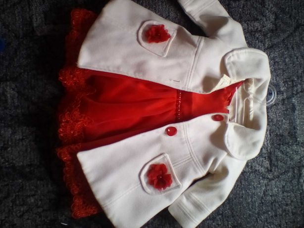 Rochie plus palton bebeluș