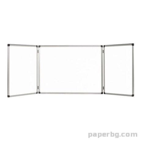 Тройна бяла дъска 120x180 / 120x360 cm Bi-Office