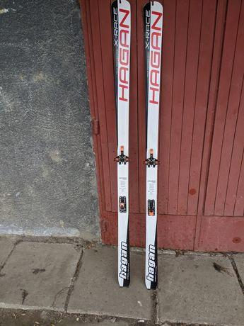 Schiuri tură/ski alpinism Hagan x-race 1.63 + atk slr + foci