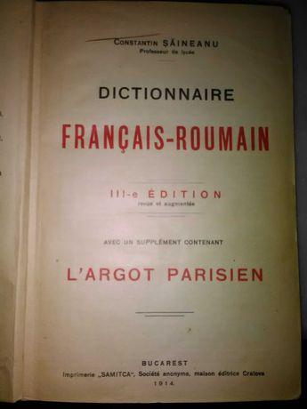 Pentru colectionari! Dictionar francez-roman 1914