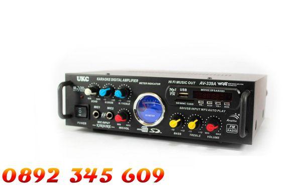 Домашен Аудио усилвател за Караоке, Модел: AV-339A + блутут