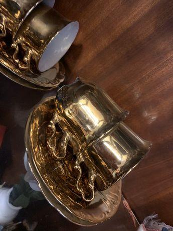 Set de ceai auriu valoros