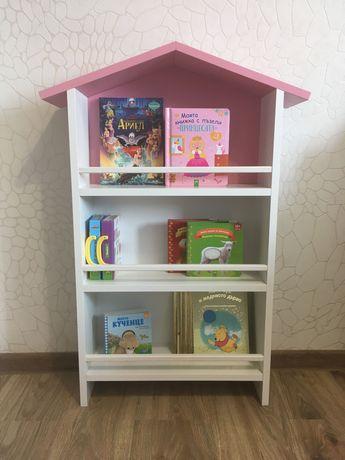 НОВА! Детска етажерка за книжки в налични цветове/син/розов/бял