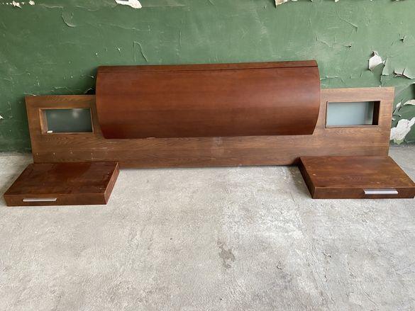 Табла за спалня с 2бр нощни шкафчета. Цена: 150лв