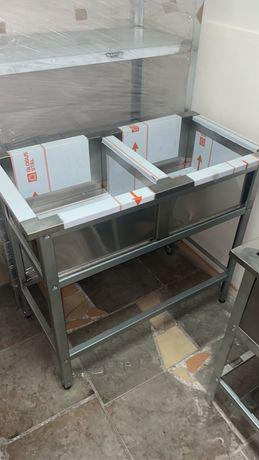 Ванна моечная производственный стол стеллаж.