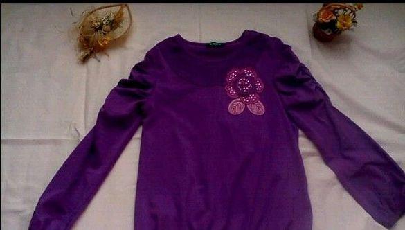 Лилава блуза