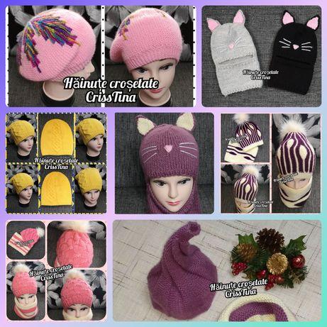 Caciuli tricotate manual - modele variate