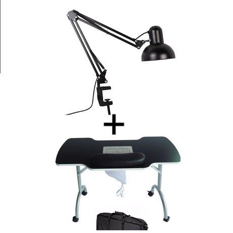 Masa manichiura cu aspirator inclus + lampa birou manichiura