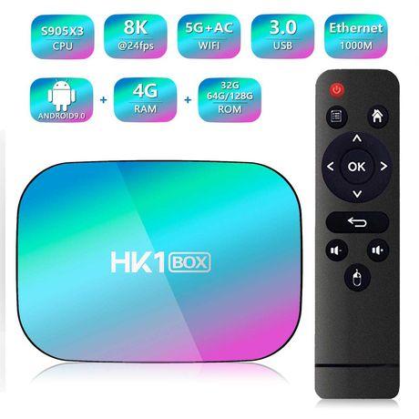Android TV BOX HK1 Box 4GB ОЗУ 32 ГБ память приставка смарт тв