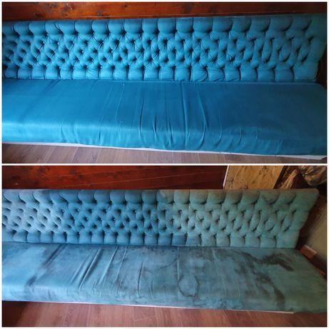 Curatare canapele din material textil sau piele