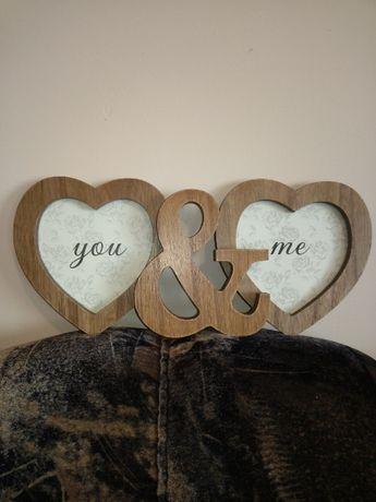 """Рамка """"you & me"""" с две снимки."""