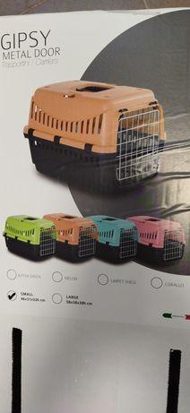 Тр. клетка,преносилка,кутия за пренос (котка,малко куче)с метал.врата