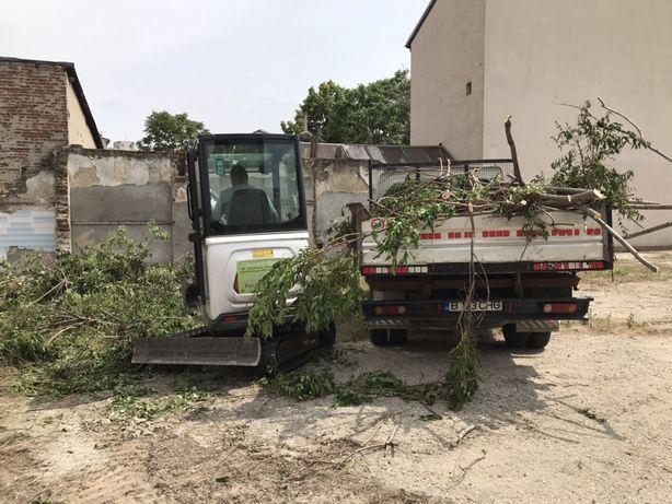 Evacuare  resturi vegetale crengi gazon