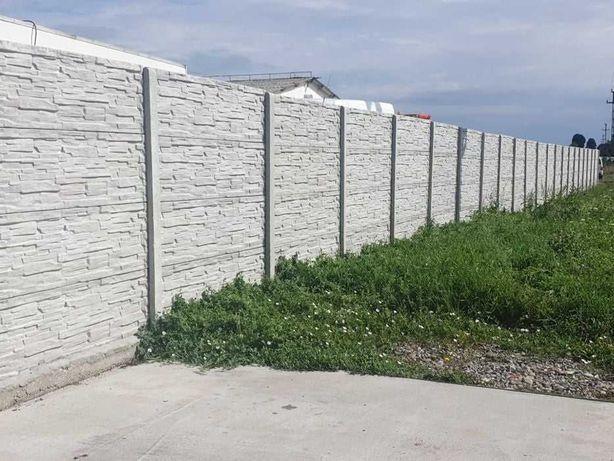 Placi gard beton si stalpi