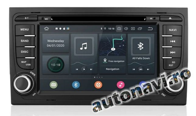 Audi A4 Android 10 4+64Gb Gps Multimedia Navigatie