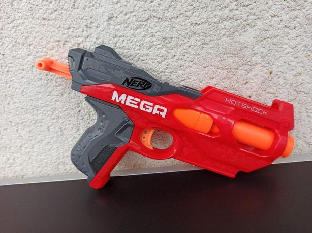 Pistol Blaster NERF N Strike Mega Hotshock copii baieti gloanțe burete
