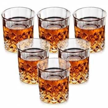 Комплект кристални чаши за уиски - 6 броя