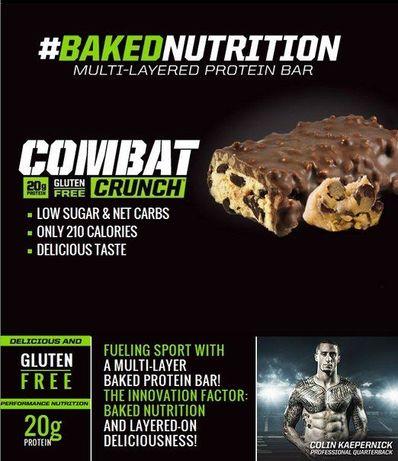 Протеиновые батончики Muscle Pharm, Combat Crunch, 12шт, 63гр