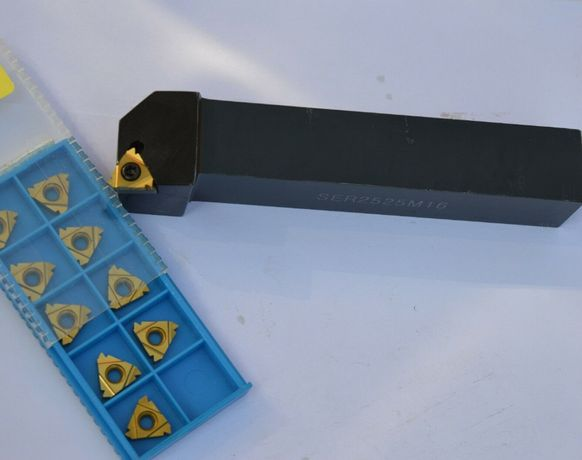 Cutit de strung pentru filetare exterioara 25x25 cu 10 placute vidia