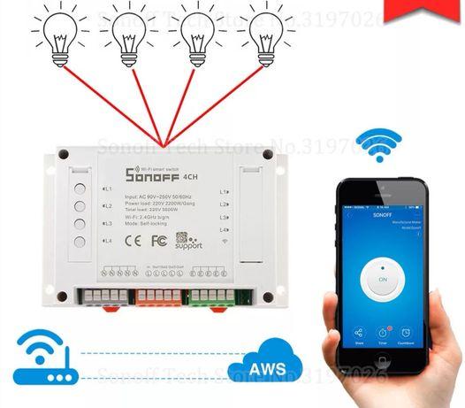 Smart home управлявай през телефона до 4 уреда смарт хоум sonoff wifi