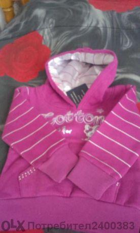 Анорак/блуза с качулка 6 месеца нова