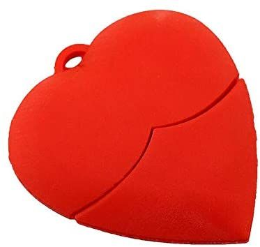 Флаш памет сърце 16 GB , страхотен подарък с повод и без