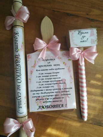 Подаръци за моминско парти (дъска, точилка и чукче )