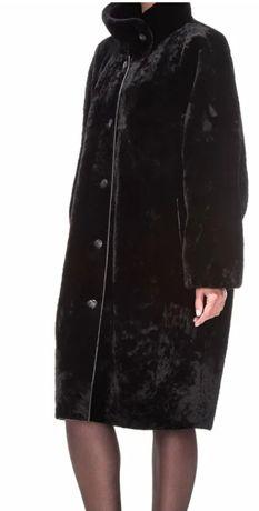 Новая шуба мутон, воротник норка, размер 56, классика, красивая,200000
