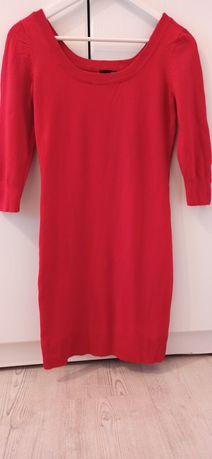Rochie tip pulover H&M roșie mărimea S