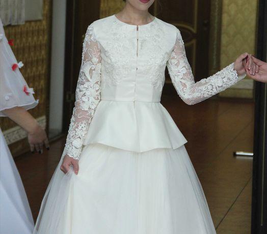 Продам красивое и нежное платье  на қыз ұзату.