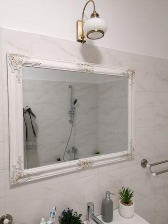 Oglindă 70x90 albă, noua, sistem de prindere inclus