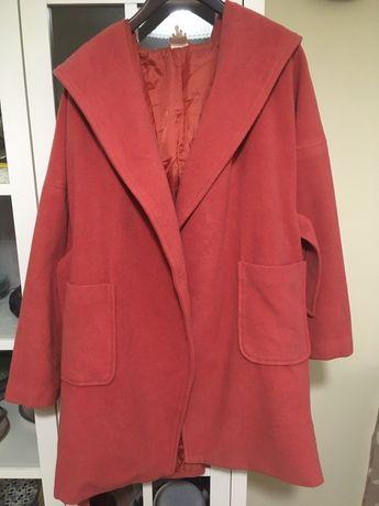 Палто Monki, вълна, р-р S oversized, тип халат