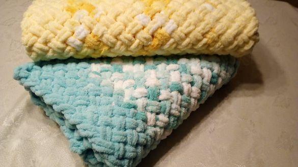 Бебешки одеяла, ръчно плетени
