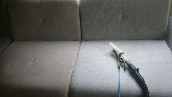 Машинно пране на мека мебел чрез екстракция