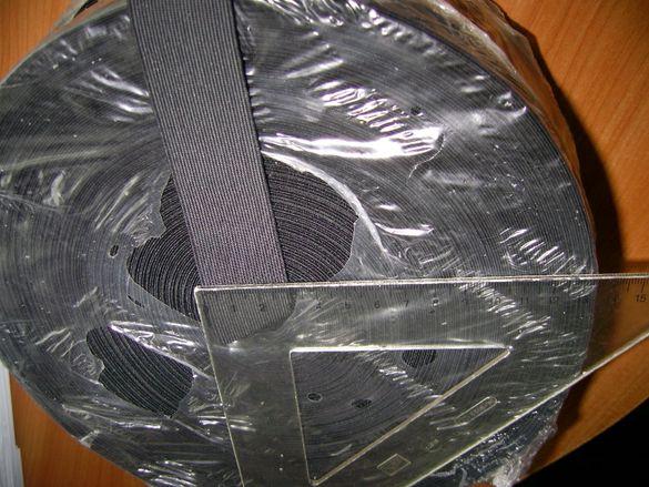 Плосък ластик 30 мм - черен