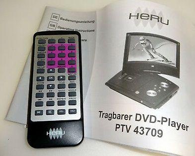 Telecomanda DVD portabil cu tuner TV Heru PTV 43709