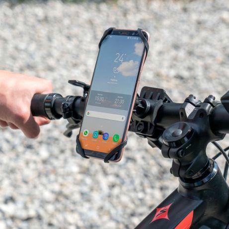 Стабилна стойка за телефон с гумирани ушички за колело или мотор