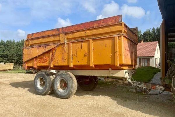 Remorca 12 tone agricola tandem 2 axe