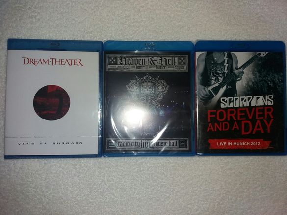 Оригинални дискове Blu-ray, DVD-Scorpions, Dio