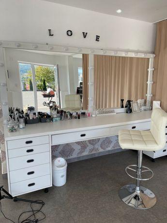 Vand Masa de make-up +lampa circulara make-up
