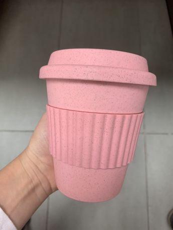 Бамбукова термо чаша със силиконова дръжка