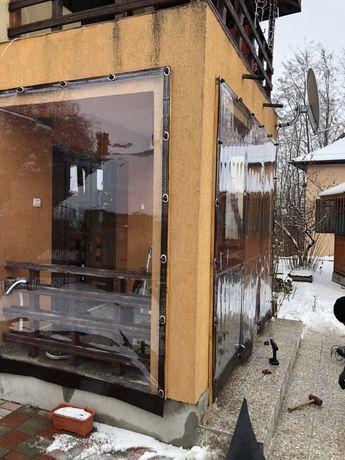 Inchidere terasa , foișor și balcon cu folie PVC 0,8 mm (Cristal)
