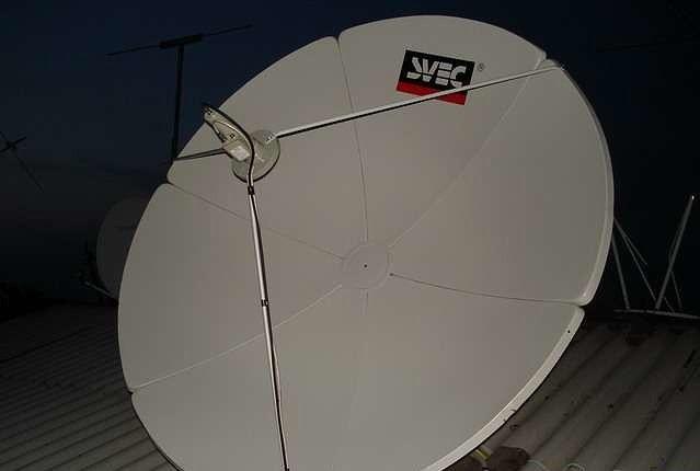 Спутниковая антенна в хорошем состоянии