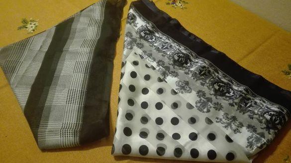 Шалове, коприна и памук! Обичате ли комбинация от бяло и черно?