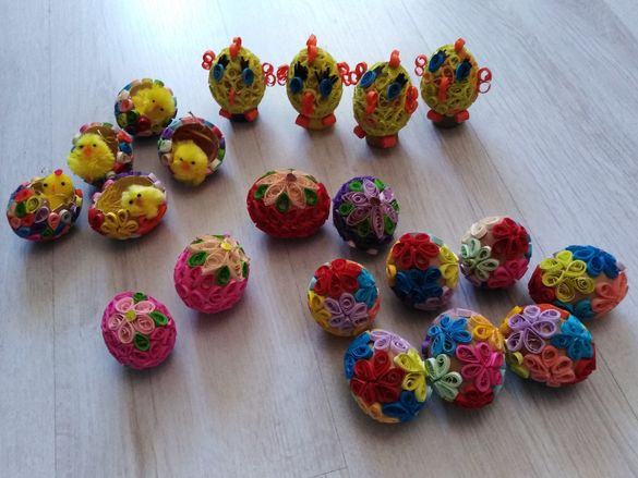 Великденски яйца ръчна изработка