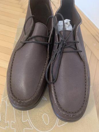 Pantofi ghete maro 42 mocasini hackett