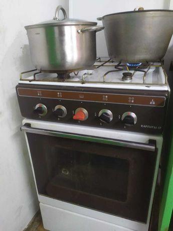 Плита с газовым болоном